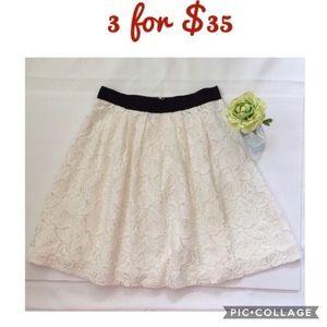 LOFT White Lace Skirts Size 2P